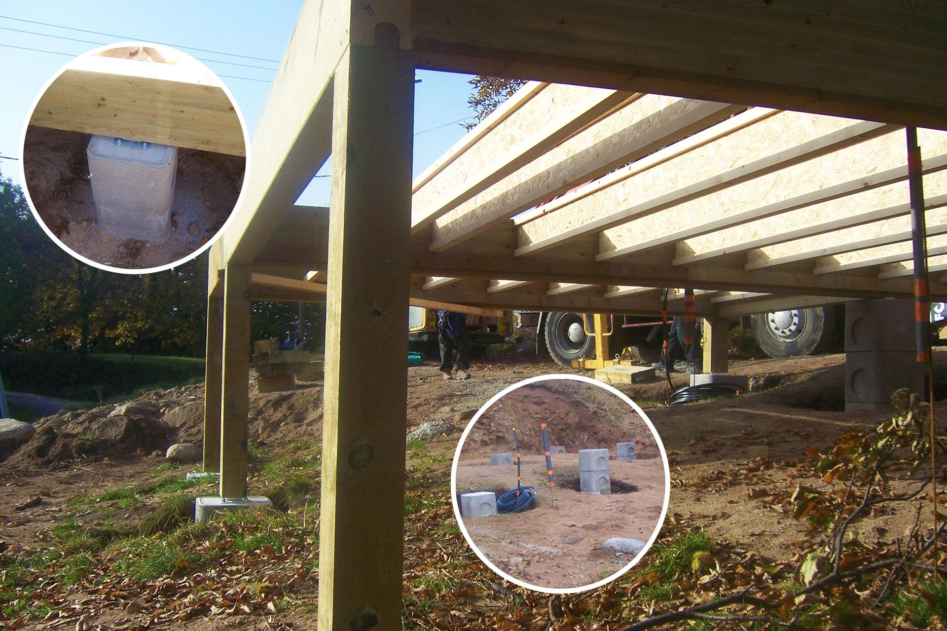 Génie civil pour création de maison en bois à Vernoux (07).