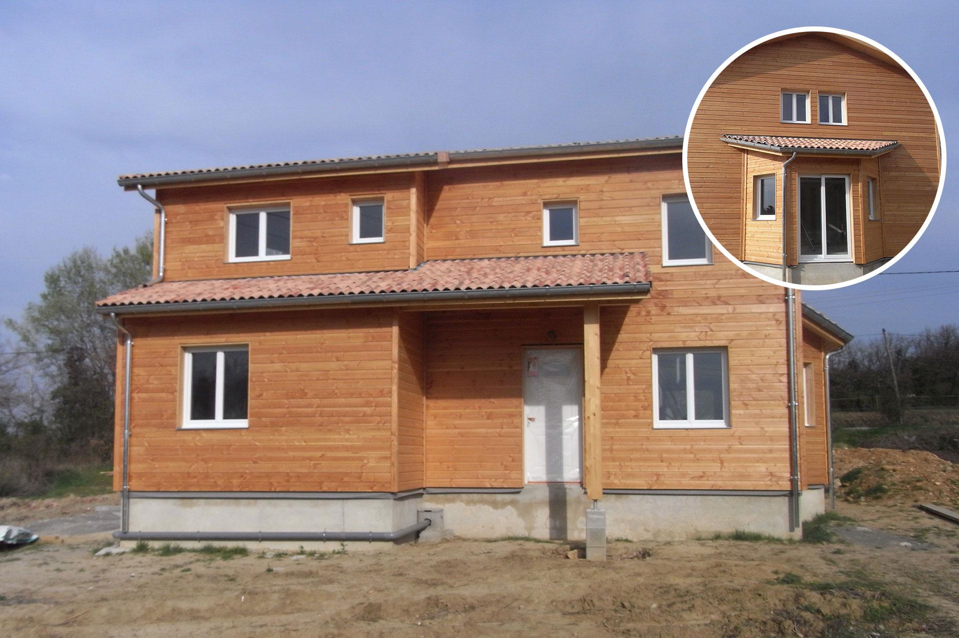 Maçonnerie pour maison en bois à Malataverne avec gros œuvre, soubassement et dalle.